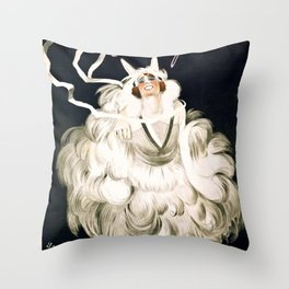 Vintage French poster - Cappiello - Mistinguett Throw Pillow