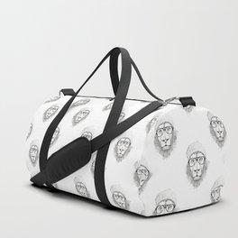 Cool lion (bw) Duffle Bag