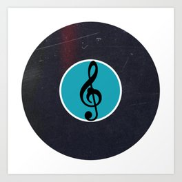 Vinyl Record Art & Design | G Clef | Musical Notes Art Print