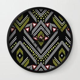Aztec Geometrics Wall Clock