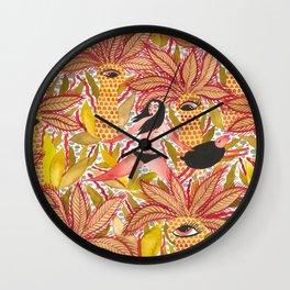Expulsion from Paradise - with sheep Wall Clock