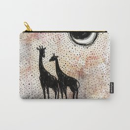 Giraffes in the Sunset Carry-All Pouch