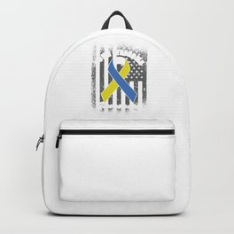 Trisomy 21 Unique Genetics Unique Down Syndrome Awareness Gift Backpack