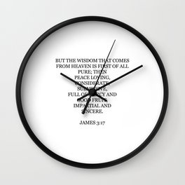 James 3:17 Wall Clock