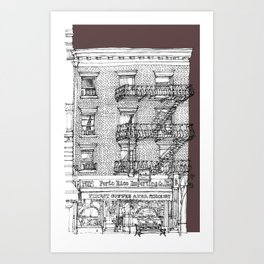 Porto Rico Importing Co._RED Art Print