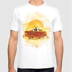 Sunset White MEDIUM Mens Fitted Tee