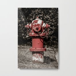 East Jordan Iron Works WaterMaster Peeling Red Fire Hydrant Fire Plug Metal Print