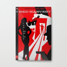 Hardboiled :: Red Harvest :: Dashiell Hammett Metal Print