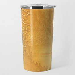 Sandy brown clouded watercolor Travel Mug