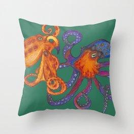 Two Octopodes Throw Pillow