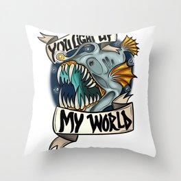 You Light Up My World Throw Pillow