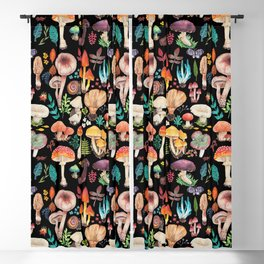 Mushroom heart Blackout Curtain
