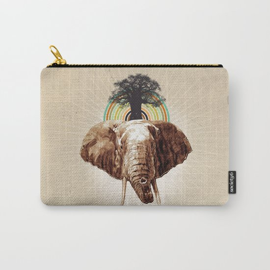 "Glue Network Print Series ""Environment & Animals"" Carry-All Pouch"