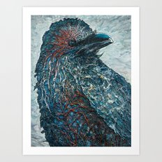 The Raven's Mirror Art Print