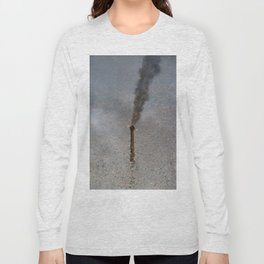 Factory Chimney  Reflection in Water Long Sleeve T-shirt