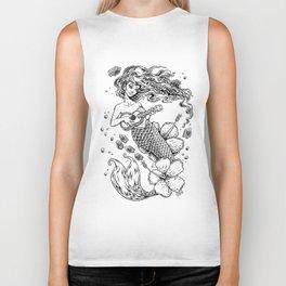 Ukulele Mermaid Biker Tank