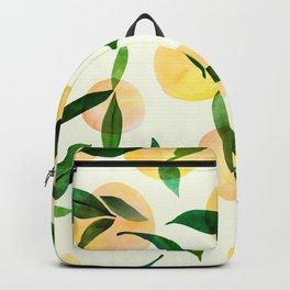 Sunny Lemon Print ~ Yellow and Green Backpack