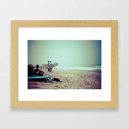 Waiting Game. Framed Art Print