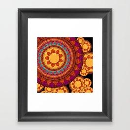 Ethnic Indian Mandala Framed Art Print