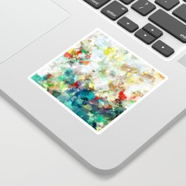 Spring Abstract Painting Sticker