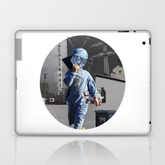 CatKid in illusion City Collage Laptop & iPad Skin