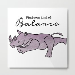 Animal Yoga Metal Print