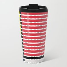Mondrian pantone as pixel Metal Travel Mug
