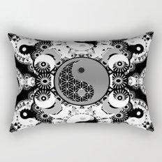 YinYang Sacred Geometry Totem Rectangular Pillow