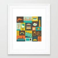 san francisco Framed Art Prints featuring San Francisco by Ariel Wilson