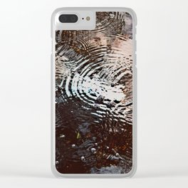 Tear Drops From Heaven Clear iPhone Case