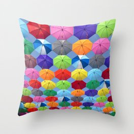 umbrella new color colour life art vibe 2018 Throw Pillow