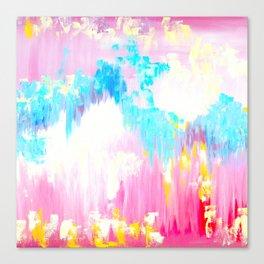 Abstract Pink Pastel Prints Canvas Print