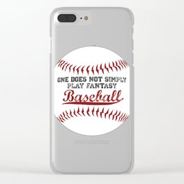 One does not simply PLAY fantasy baseball! Clear iPhone Case