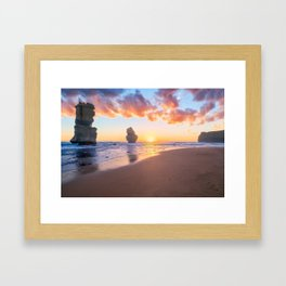 12 Apostles with Marshmallow Skies Framed Art Print