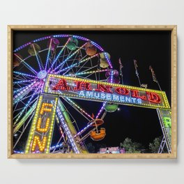 Ferris Wheel at Carnival Serving Tray
