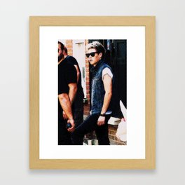 Niall Horan With Color Halftone Framed Art Print