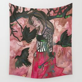 Raven Witch Wall Tapestry