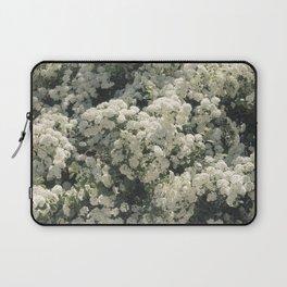 Summer Blooming Spirea, white flowers Laptop Sleeve