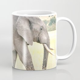 African Elephant walking through the Savanna Coffee Mug