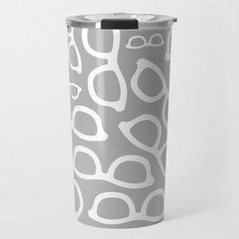 Smart Glasses Pattern - Grey Travel Mug