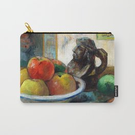 Paul Gauguin Still Life with Apples, a Pear, and a Ceramic Portrait Jug Carry-All Pouch