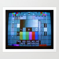 Tape Unthread Art Print