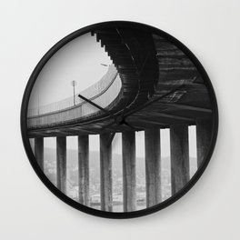 Tromsø bridge 1 Wall Clock