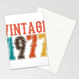 Vintage 1977 Birthday Gift Idea Stationery Cards