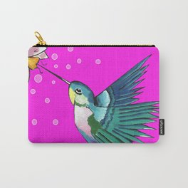 Spirited Hummingbird Carry-All Pouch