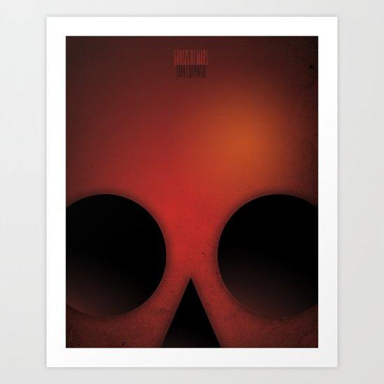 SMOOTH MINIMALISM - Ghost of Mars Art Print
