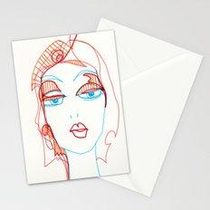 girl sketch Stationery Cards