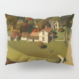 Birthplace of Herbert Hoover, West Branch, Iowa by Grant Wood Pillow Sham