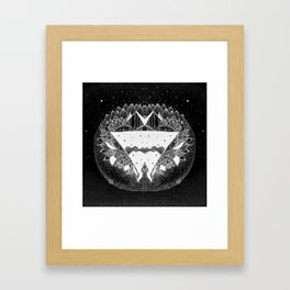 Out in the universe Framed Art Print