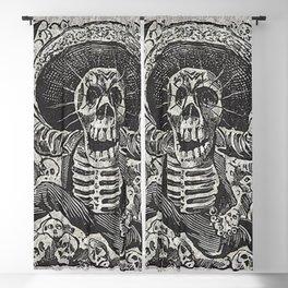 Calavera Oaxaqueña - Día de los Muertos - Mexican Day of the Dead by Jose Guadalupe Posada Blackout Curtain